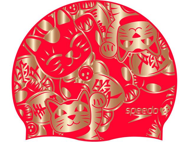 speedo Slogan Casquette Enfant, red/gold